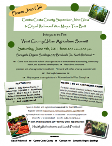 West Contra Costa County Urban Agriculture Summit